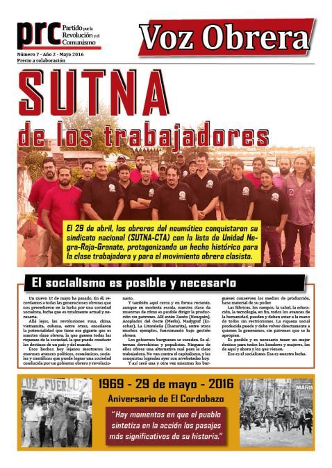 Voz Obrera Nº7 - Año2 - Mayo  2016